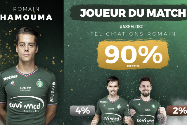 #ASSELOSC Romain Hamouma élu meilleur Vert