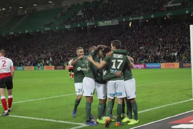 ASSE 2-0 Reims: the goals from a different point of view