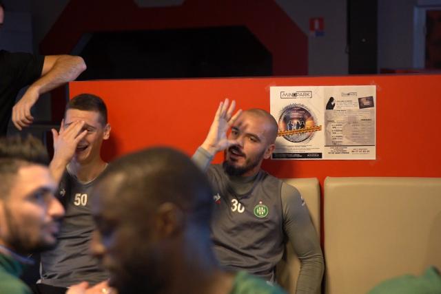 Vidéo: les Verts au laser game (Rémy Cabella en demi-teinte)