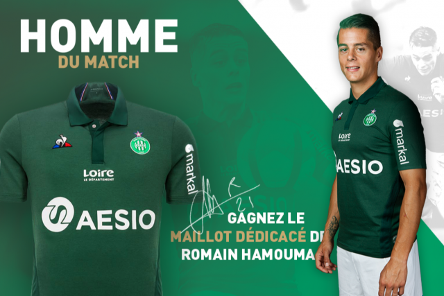 Gagnez le maillot dédicacé de Romain Hamouma!