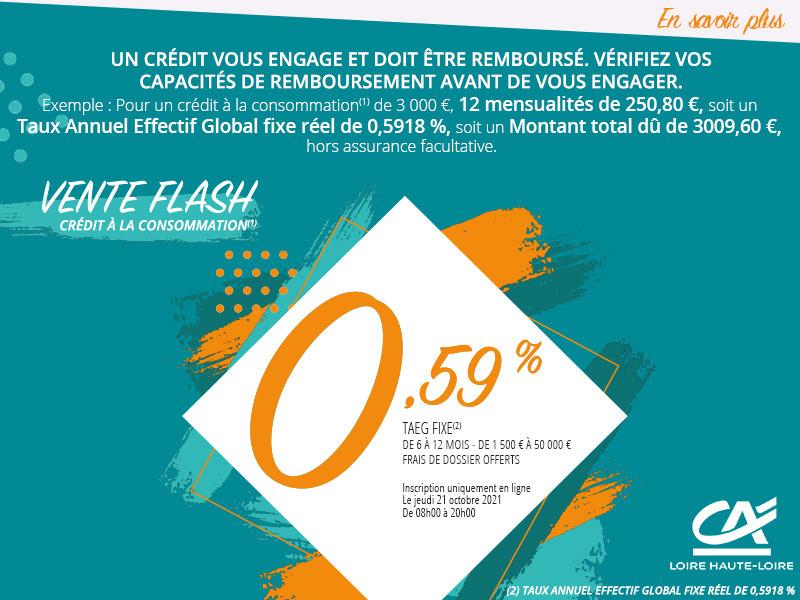 Crédit Agricole - VENTE FLASH du 21 octobre 2021